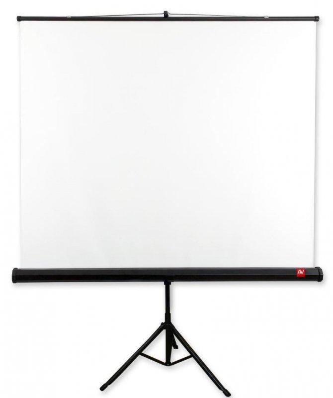 AVTek Ekran na statywie Tripod Standard 175, 1:1, 175x175cm, powierzchnia biała, matowa