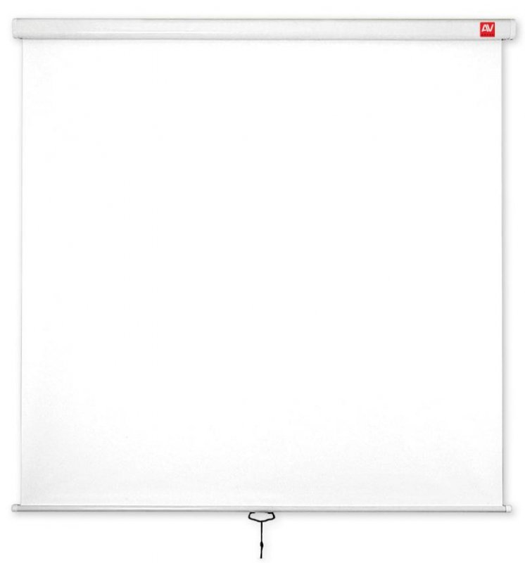 AVTek Ekran ścienny ręczny Wall Standard 200, 1:1, 200x200cm, powierzchnia biała, matowa