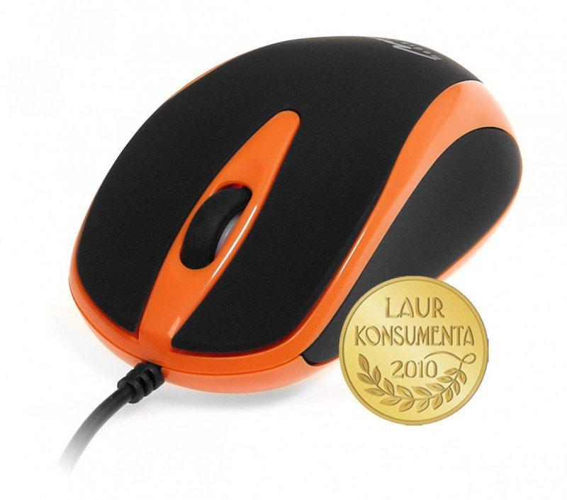 Media-Tech Mysz optyczna 800dpi czarno-pomaranczowa MT1091O