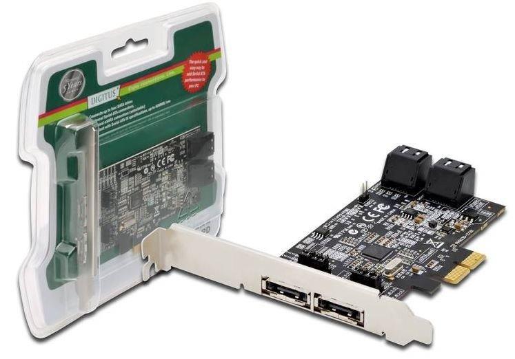 Digitus Karta rozszerzeń/Kontroler SATA III PCI Express, 4xSATA 2xeSATA, Chipset: 88SE9230