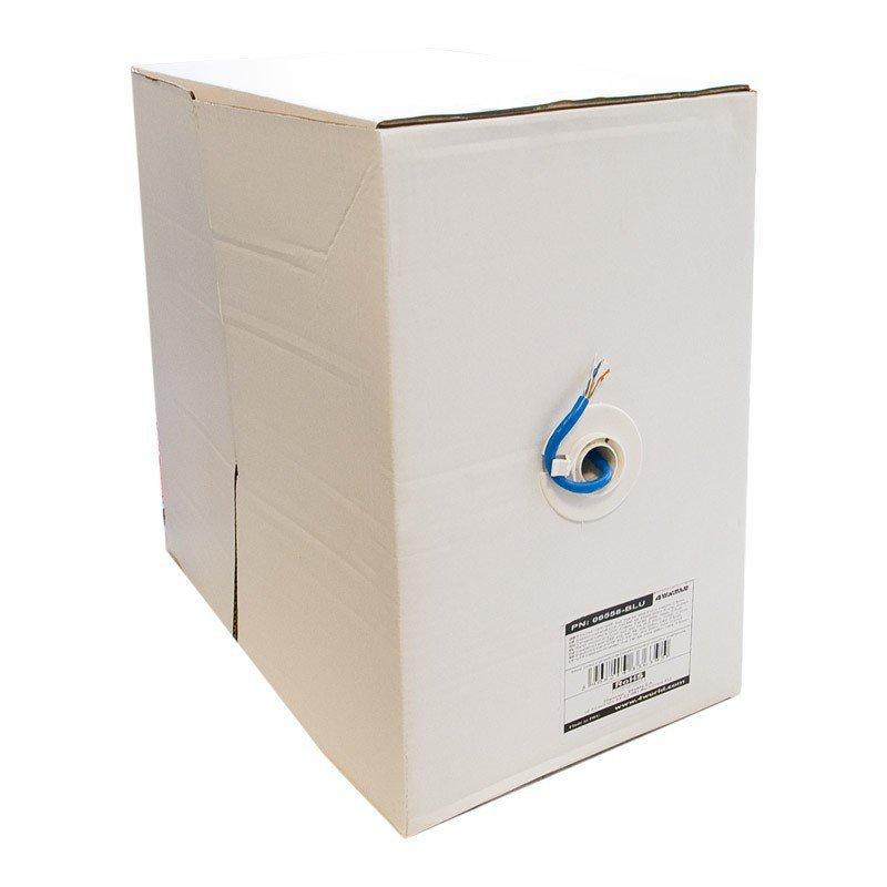 4world Kabel instalacyjny UTP | 4x2 | kat. 6 | drut 305m | CU | niebieski