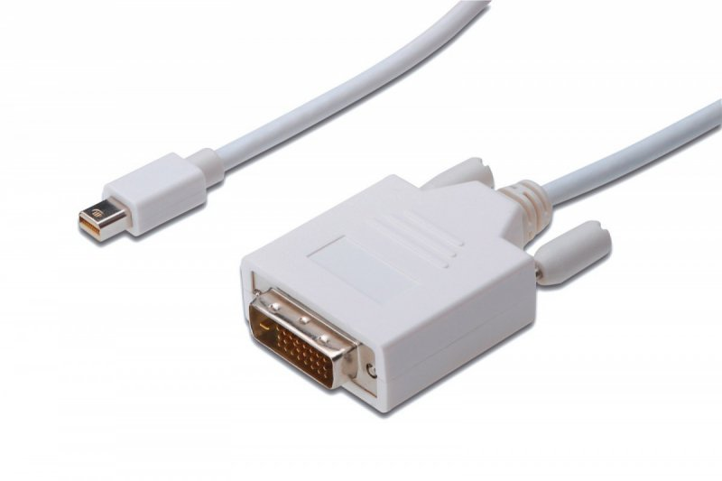 Digitus Kabel adapter Displayport 1080p 60Hz FHD Typ miniDP/DVI-D (24+1) M/M biały 2m