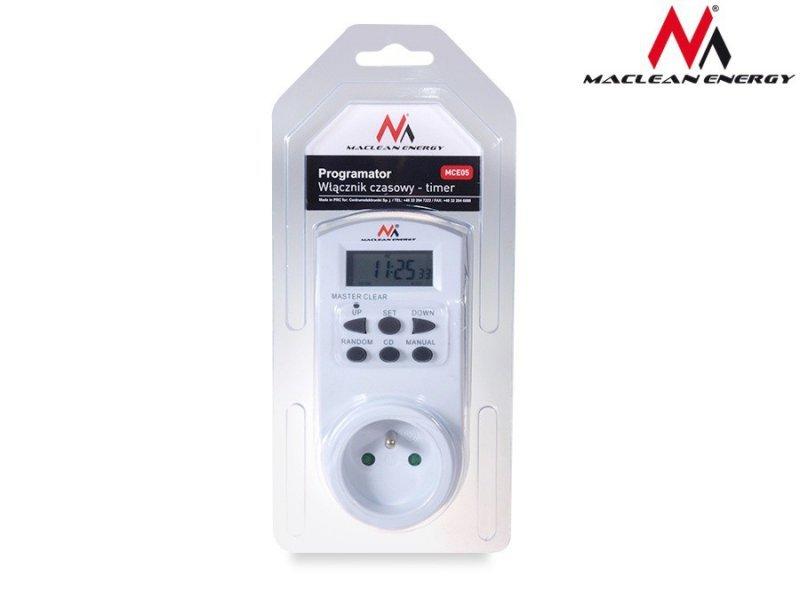 Maclean Timer cyfrowy Energy MCE05 10 programów CD funkcja Random 3600W - Czasomierz - programator