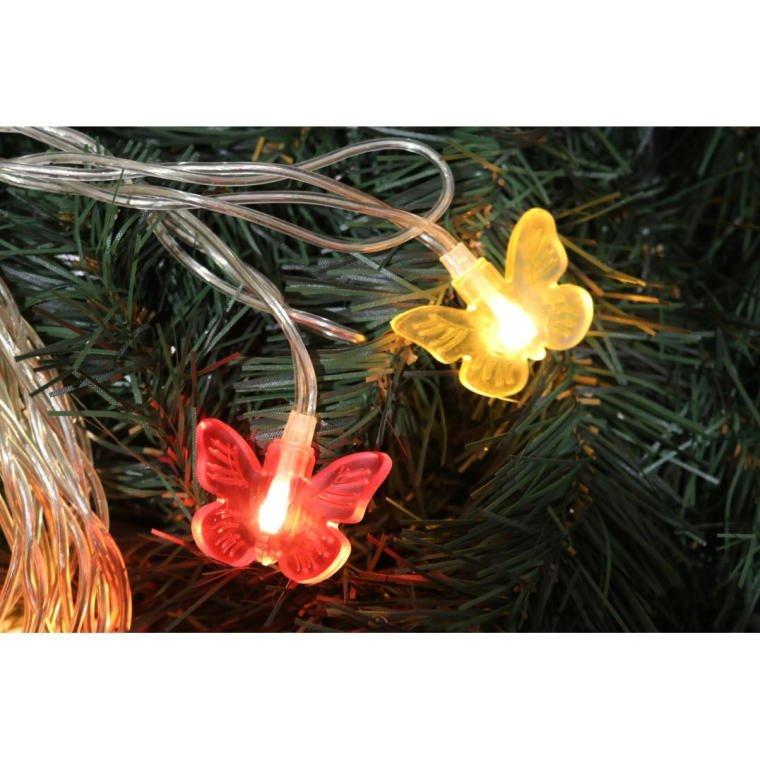 LAMPKI MOTYLKI 20 LED SILIKONOWE OŚWIETLENIE DEKORACYJNE