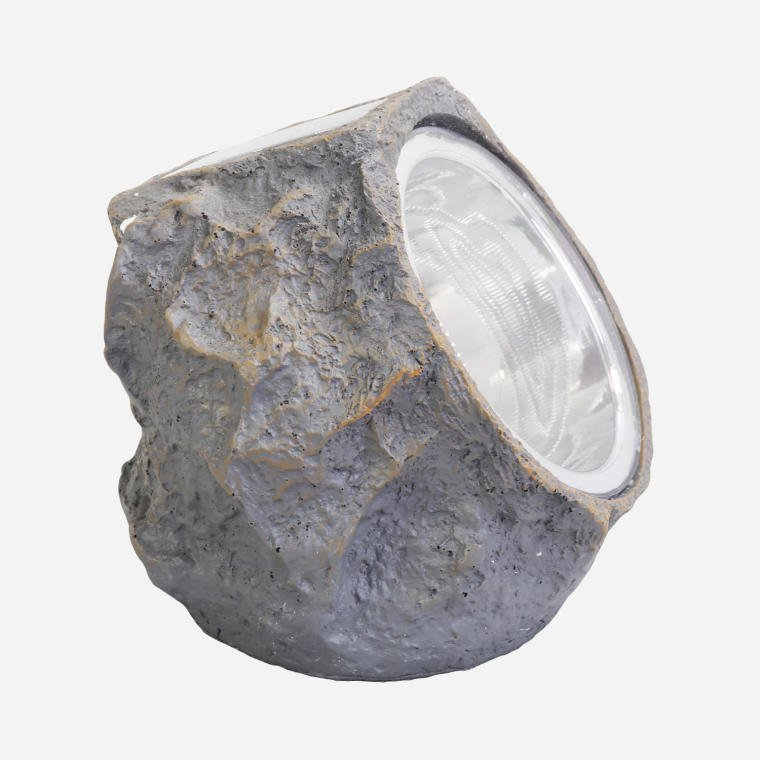 LAMPA SOLARNA OGRODOWA IMITACJA KAMIENIA LED