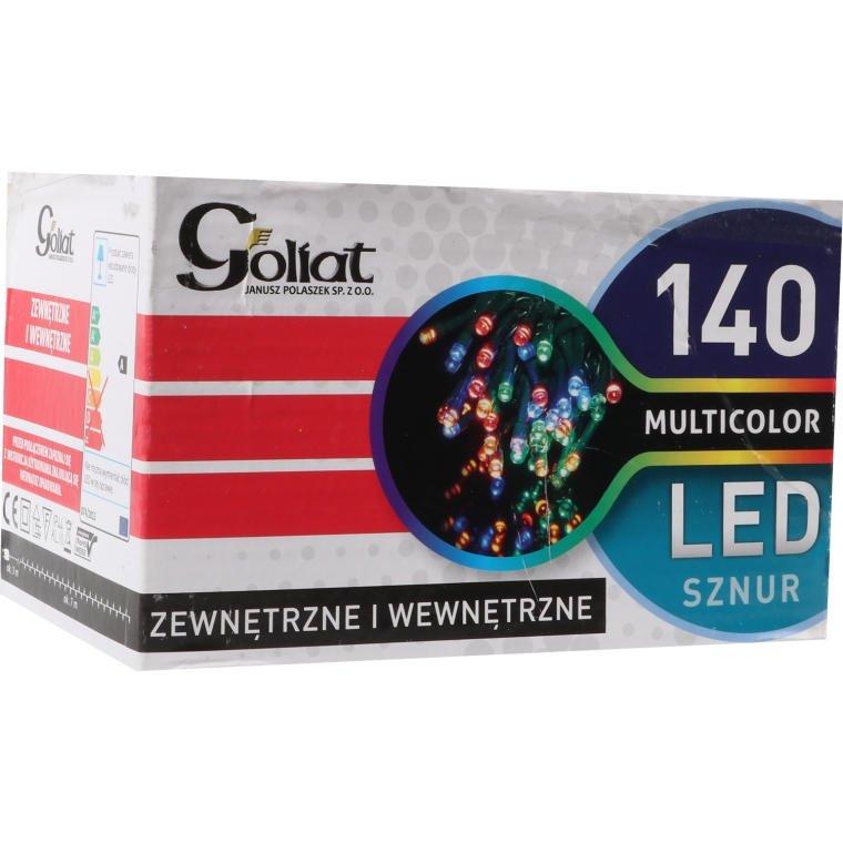 LAMPKI CHOINKOWE 140 LED MULTIKOLOR WEWNĘTRZNE OŚWIETLENIE ŚWIĄTECZNE