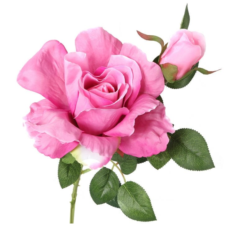 Kwiat róży sztuczna różowa ozdoba dekoracja