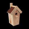 Budka lęgowa dla ptaków (Papa/Bordo) - sklep z wiklina - zdjęcie
