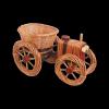 Osłonka na doniczke (Traktor/Mały) - Sklep z wiklina - zdjęcie