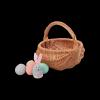 Koszyczek Wielkanocny (baniak/25cm) - sklep z wiklina - zdjęcie