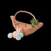 Koszyczek Wielkanocny (gniazdko 30 cm) - sklep z wiklina - zdjęcie