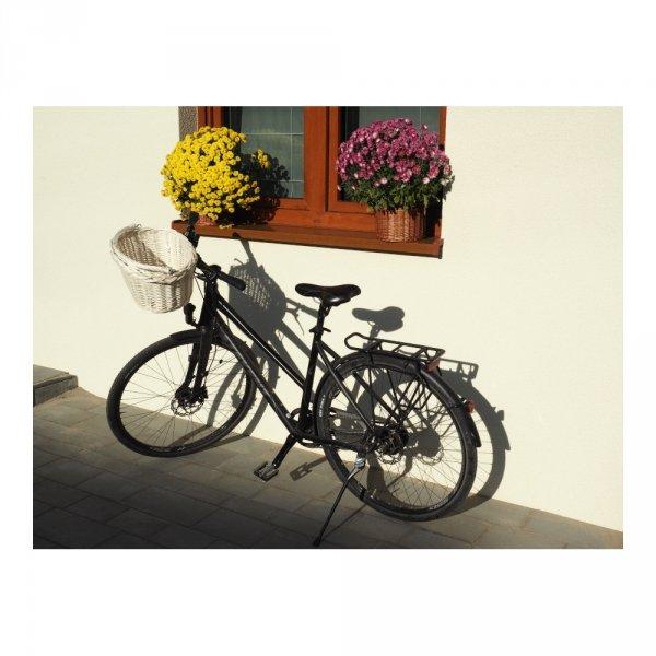 Kosz rowerowy przedni (haki, biały) - sklep z wiklina - zdjęcie 4
