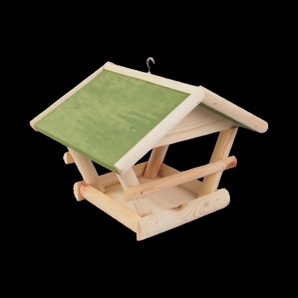Karmnik dla ptaków (Drewno/Zielony) - sklep z wiklina - zdjęcie