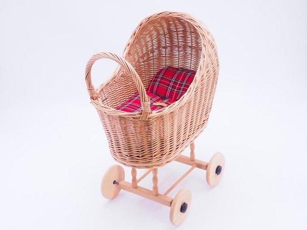 Wózek dla lalek (Klasyczny/Wzór) - Sklep z wiklina - zdjęcie 2