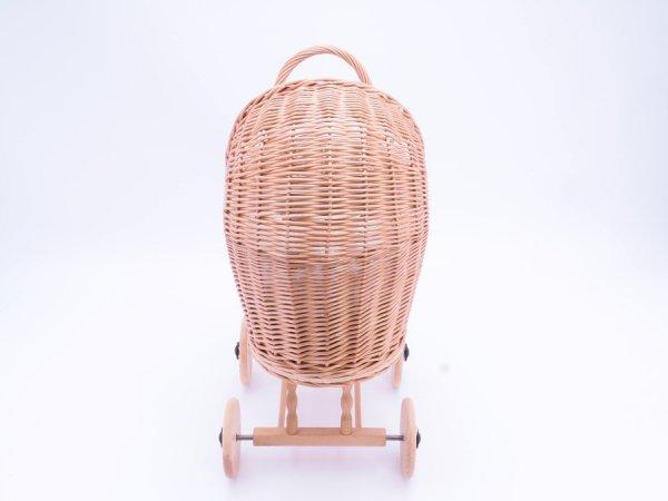 Wózek dla lalek (Klasyczny/50cm) - Sklep z wiklina - zdjęcie 2