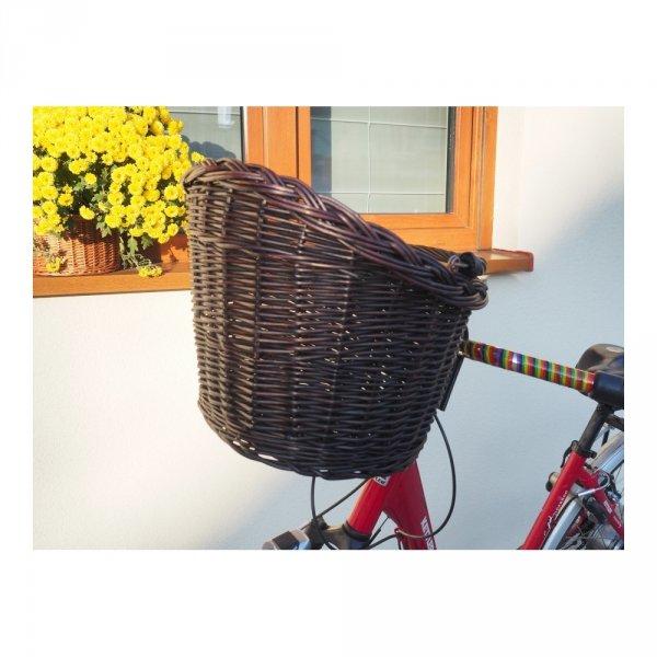 Kosz rowerowy przedni (haki, wenga) - sklep z wiklina - zdjęcie 1