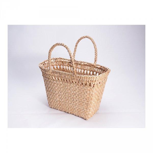 Kosz na zakupy - torba plażowa (Rafia/40cm) - sklep z wiklina - zdjęcie 4
