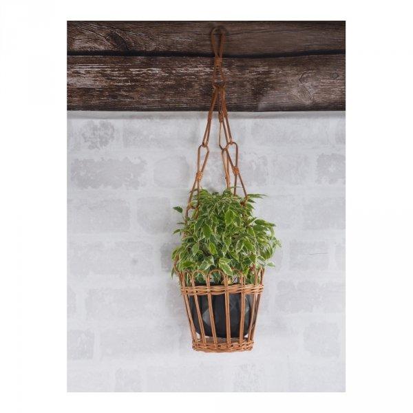 Kwietnik wiszący (ażur/naturalny) - sklep z wiklina - zdjęcie 2
