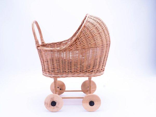 Wózek dla lalek (Klasyczny/50cm) - Sklep z wiklina - zdjęcie 3