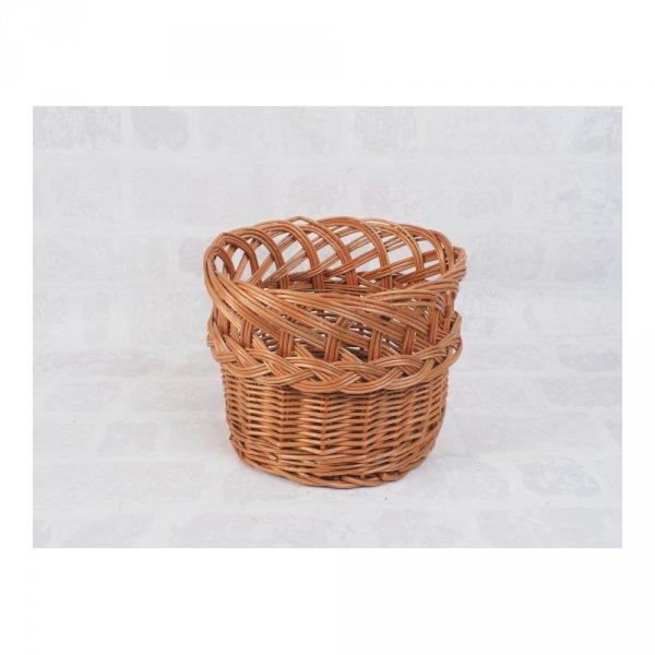 osłonka na donicę (ażur/naturalna/32cm) - sklep z wiklina - zdjęcie 1