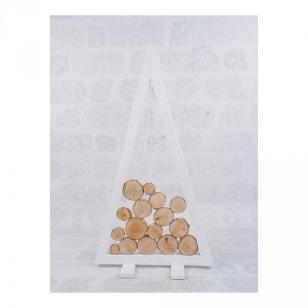 Choinka Drewniana (Biała/Plaster/60cm) - sklep z wiklina - zdjęcie 3