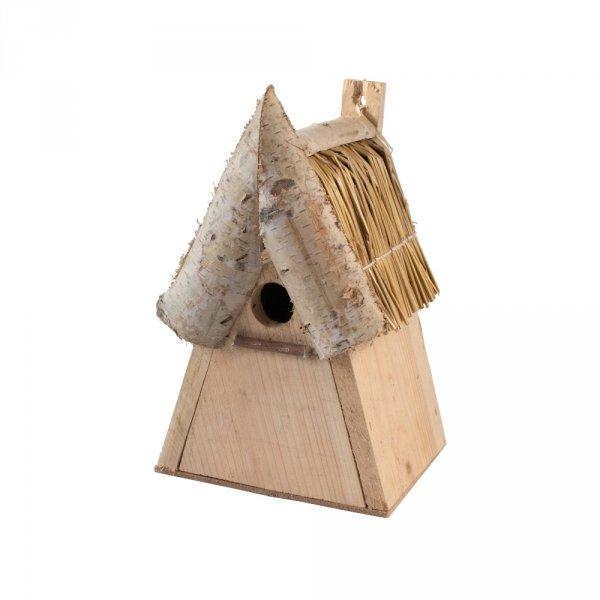 Budka lęgowa dla ptaków (drewno/słoma) - sklep z wiklina - zdjęcie