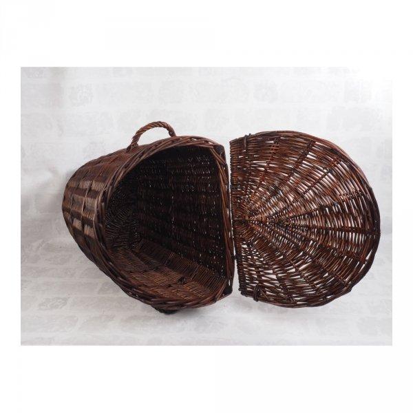 Kosz na ubrania (Półokrągły/Wenge/45cm) - sklep z wiklina - zdjęcie 2