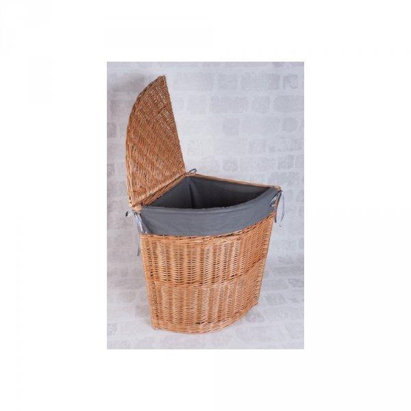 Kosz z wkładem na ubrania (Narożny/40cm) -sklep z wiklina - zdjęcie 1