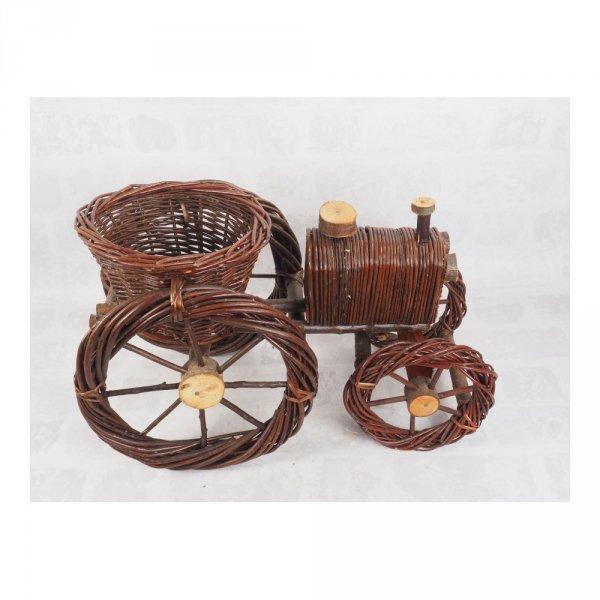 Osłona na doniczke niekorowana (Traktor/Średni) - Sklep z wiklina - zdjęcie 1