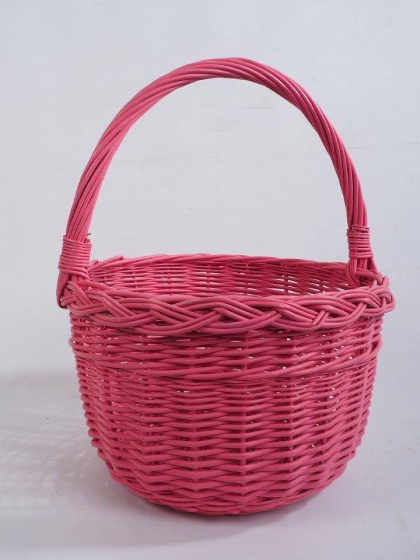 Kosz na zakupy (Boler/Różowy) - Sklep z wiklina - zdjęcie