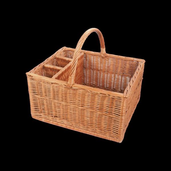 Kosz piknikowy (Prostokąt/50cm) - sklep z wiklina - zdjęcie