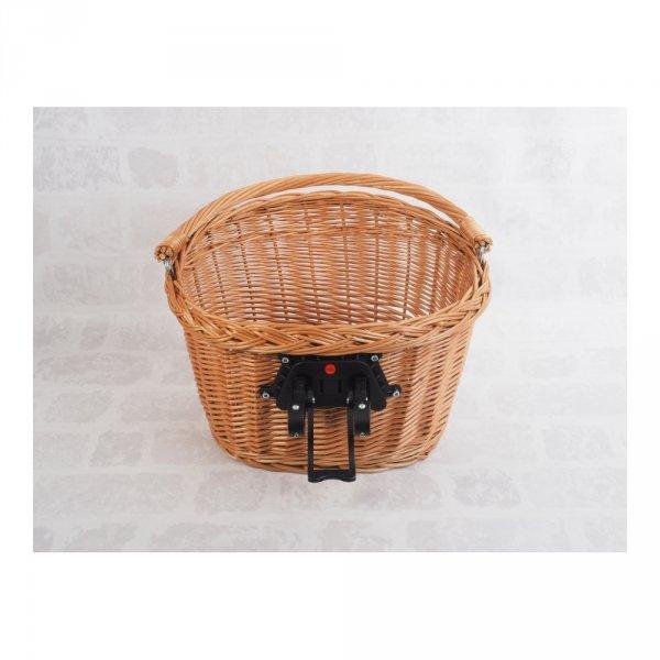 Kosz rowerowy przedni (clik, naturalny) - sklep z wiklina - zdjęcie 3