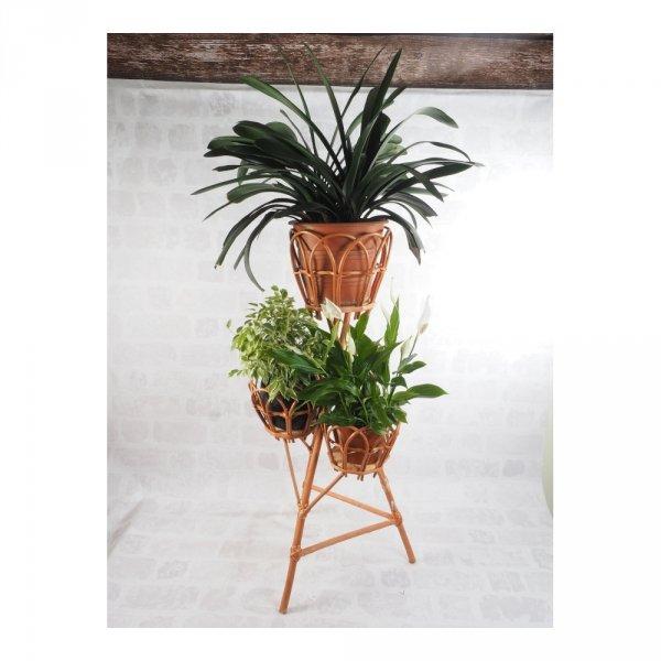 Stojak na kwiaty - kwietnik (Ażur/3D) - sklep z wiklina - zdjęcie 1