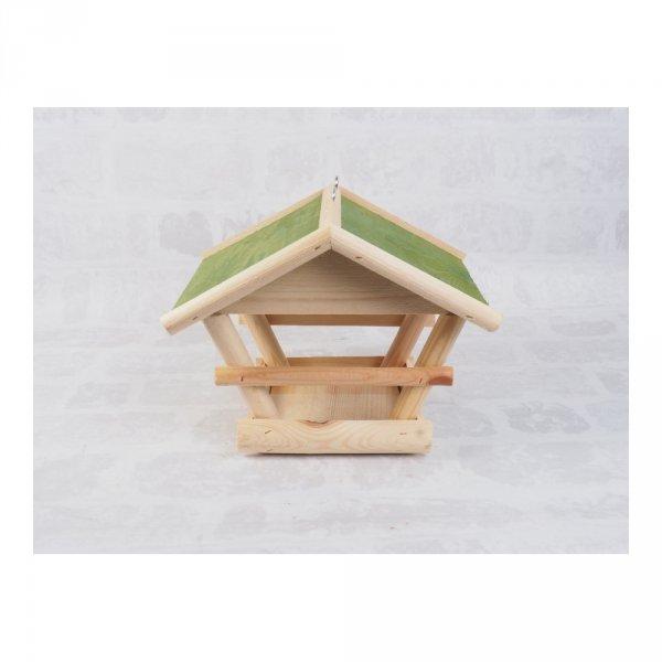 Karmnik dla ptaków (Drewno/Zielony) - sklep z wiklina - zdjęcie 1