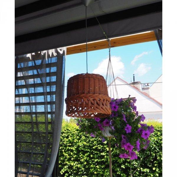 Żyrandol (Ażur/32cm) - sklep z wiklina - zdjęcie 3