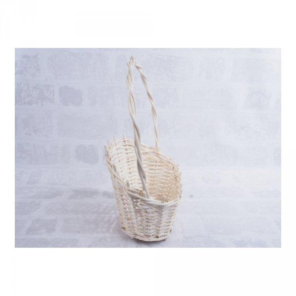 Kosz prezentowy - biały (Duży) - sklep z wiklina - zdjęcie 1