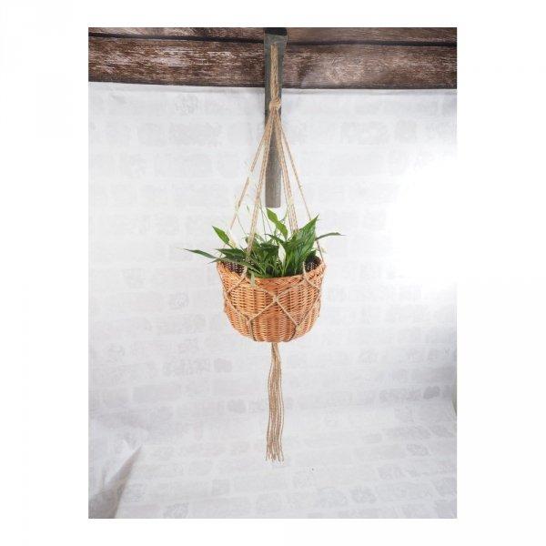 Kwietnik wiszący (boler/30cm) - sklep z wiklina - zdjęcie 1
