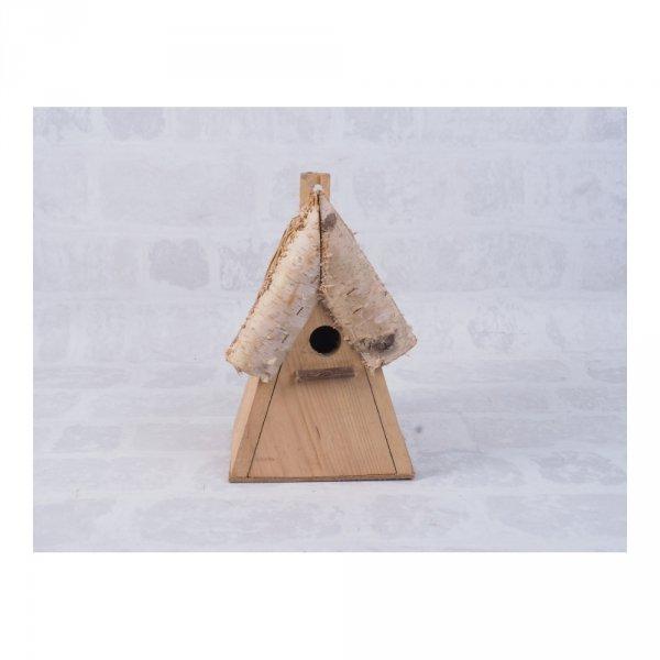 Budka lęgowa dla ptaków (drewno/słoma) - sklep z wiklina - zdjęcie 2