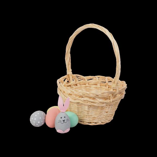 Koszyczek Wielkanocny (beżowy/16cm) - sklep z wiklina - zdjęcie