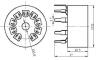 Podstawka Noval  9pin druk typ3