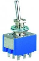 Przełącznik dźwigniowy 3PDT MIYAMA mini