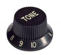 Gałka gitarowa Strat styl, czarna 'TONE'