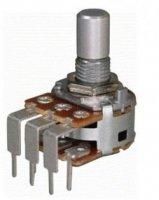 Alpha 2x500k/A logarytmiczny stereo PCB-V