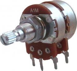 Potencjometr Marshall 2x1M/A stereo logarytmiczny