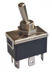 Przełącznik DPDT 3 pozycje standard terminal (ON-OFF-ON)