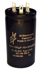 Kondensator 100uF+100uF 500V F&T