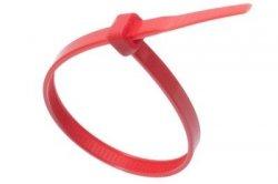 Opaska kablowa czerwona 3,6mm x 200mm (10szt)