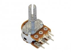2x50k/A logarytmiczny stereo PCB standard