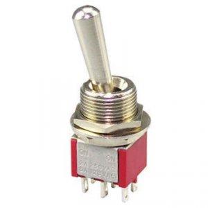 Przełącznik DPDT M202R mini LL (gwint M12)