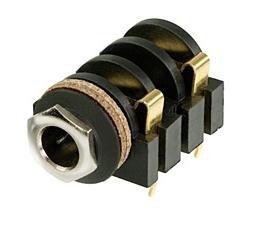 Gniazdo Jack 6,3mm mono, NYS2152G Gold